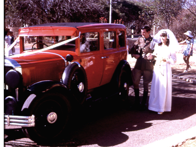 Dodge wedding car